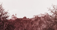 Kloster Säben, vom Campingplatz aus gesehen