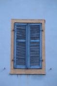 Fenster, blau