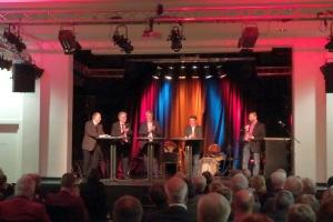 Einige der Diskutanten beim Jubiläum in Dinslaken-Lohberg