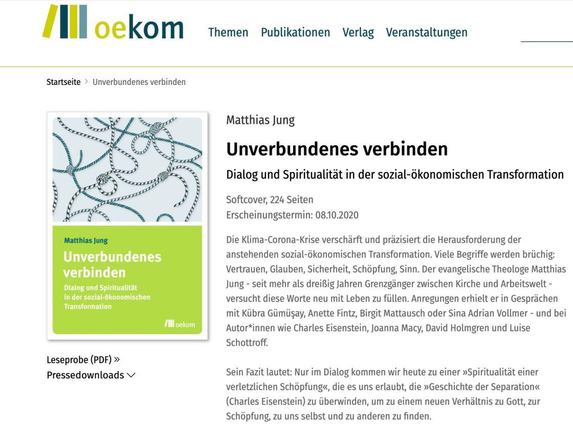 Screenshot Verlagsseite